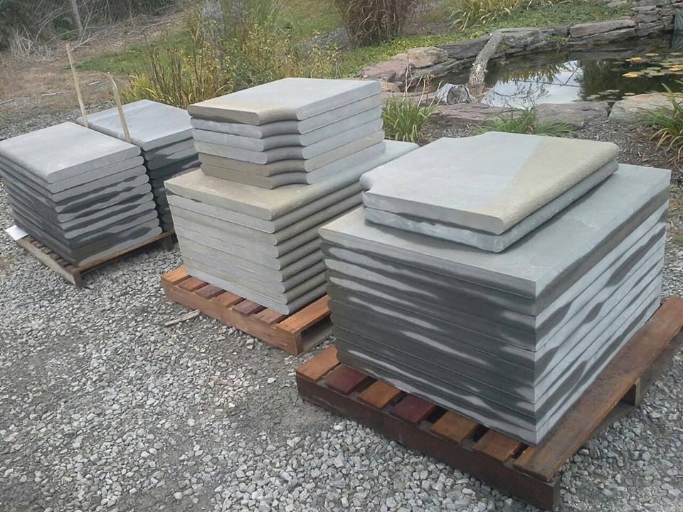 radius cut bluestone coping