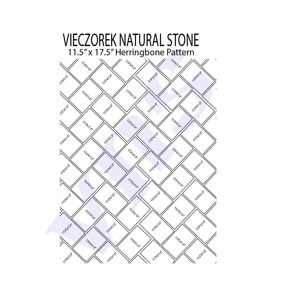 herringbone bluestone pattern