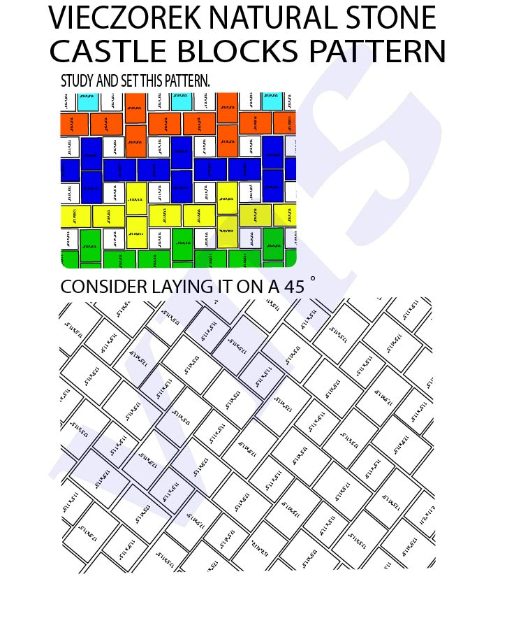 :BLUESTONE PATTERN CASTLE BLOCKS