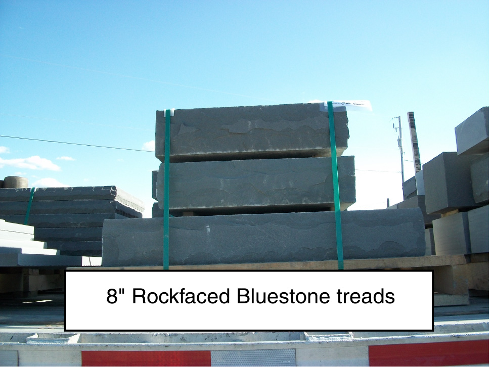 rockfaced pa bluestone steps