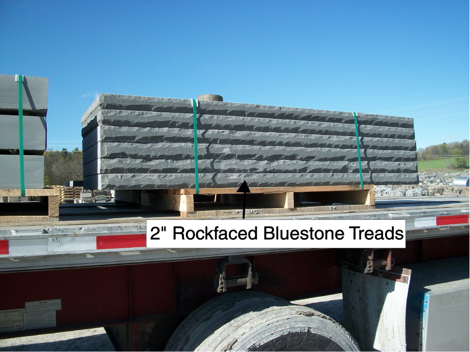 rockfaced bluestone countertops